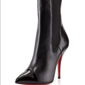 Louboutin Tucson Cap-Toe Red Sole Ankle Boot